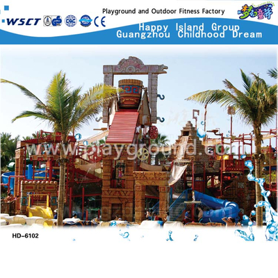 Large Aqua House Water Slide Playground for Sale(HD-6102)