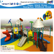 Funny Playground Games Galvanized Steel Playground Slide Equipment(HD-3802)