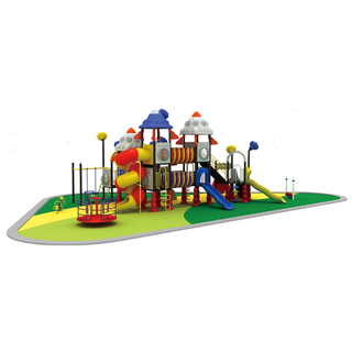 Outdoor Combination Outer Space Slide Playground with Swing (HJ-11601)