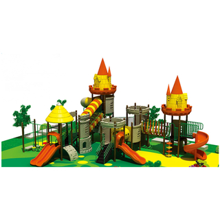Castle Series Children Adventure Galvanized Steel Playground Equipment (HF-15601)