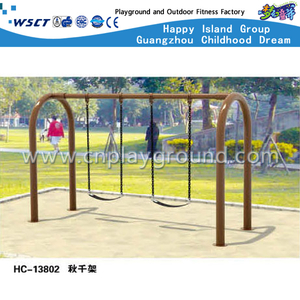 Brown Outdoor Children Leisure Swing Equipment (HC-13802)