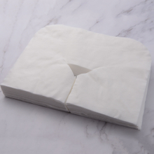 Dispsoable non woven SBPP paper face rest cover for massage Y style
