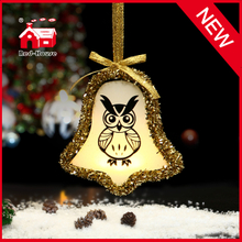 Glass Bell Shaped Ornament for Christmas Souvenirs