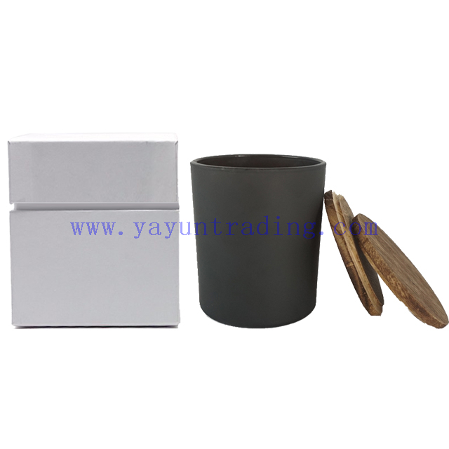 Wedding Decoration Centerpieces White Black Matte Frosted Glass Candle Holder And Custom Package