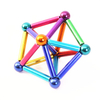 Interesting stacking toy children building magnetic sticks and balls