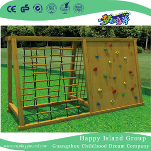 Outdoor Children Wooden Combination Climbing Fitness Frames Equipment (HF-17606)