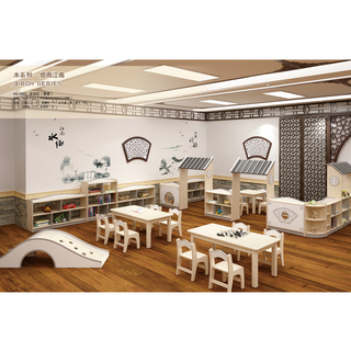 School Indoor Wood Classroom Furniture For Function Room (HJ-2801)