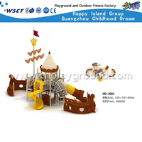 New Design Outdoor Pirate Ship Galvanized Steel Playground for Children Play(HD-3503)