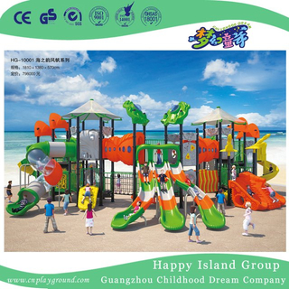 Outdoor Large Scaled Children Sea Breeze Playground with Climbing Equipment (HG-10001)