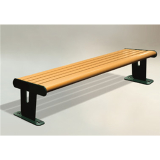 Outdoor Public Wood Leisure Bench Equipment (HHK-14505)