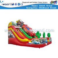 Outdoor Children Jumping Inflatable Slide with Car (HD-9401)