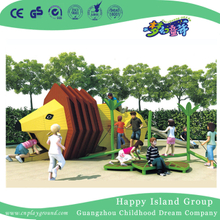Outdoor Small Lion Animal Slide Playground For Children Play (HHK-3001)
