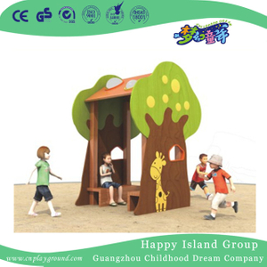 Outdoor Bright Color Children Wooden Tree Playhouse Playground (1908301)