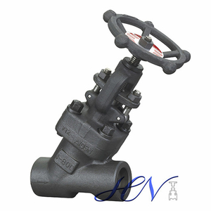 Bolted Bonnet Forged Steel Socket Welded Y Type Globe Valve