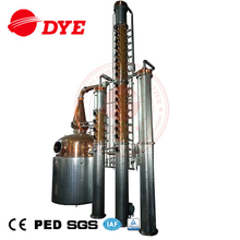 2000l or 500 gallons vodka copper distiller with two rectify copper columns and CIP manifold for vodka distillation