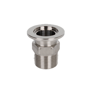 Stainless Steel KF to BSPT Male Threaded Adapter ISO-KF Vacuum Flange Fittings