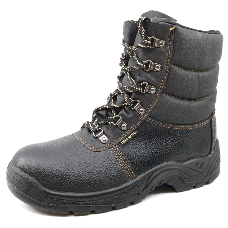 8 inch non slip oil resistant steel toe cap leather safety men boots