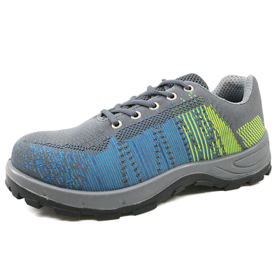 PU injection steel toe warehouse sport type safety shoes breathable
