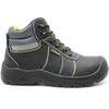 Cheap black leather steel toe industrial shoes safety for work