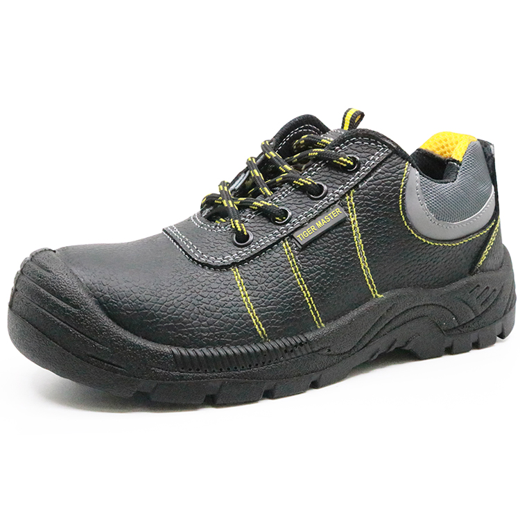 Anti slip oil resistant leather steel toe cap mining safety shoes work