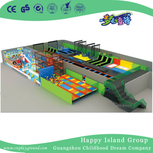 Large Scale Indoor Family Comprehensive Combination Trampoline Equipment (HF-19705)