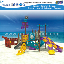 Outdoor Amusement Children Pirate Ship Slide Galvanized Steel Playground Equipment(HA-05301)