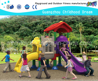China Guangzhou Plastic Fish Slide Castle Playground for Toddler