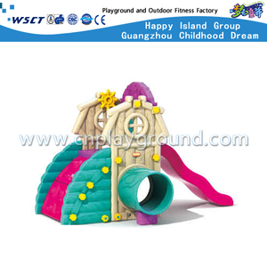 Plastic Toys Toddler Slide Watchtower Playground Equipment (M11-09410)
