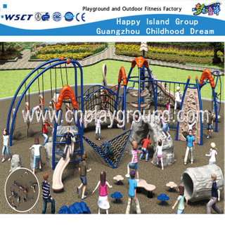 Outdoor Middle Comprehensive Excising Children Metal Playground Equipment (HF-17801)