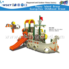 Guangzhou Cheap Middle Size Classic Theme Children Pirate ship Galvanized Steel Playground (HD-3402)