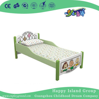 Bright Color Cartoon Images Wooden School Painting Bed For Kids (HG-6307)