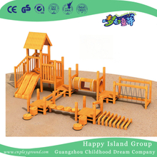 Outdoor Solid Wooden Kindergarten Children Slide Playground (HF-17102)