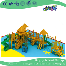 Kindergarten Outdoor Wooden Slide Combination Playground for Kids Play (HF-17201)