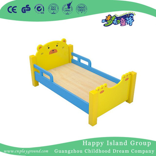 Yellow Bear Model Painting Wooden Toddler School Bed (HG-6502)