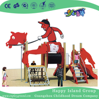 Outdoor Red Horse Shape Slide Galvanized Steel Animal Playground (HHK-2301)