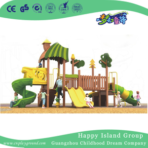 Outdoor Children Wooden Playhouse Playground Equipment For Market (1908202)
