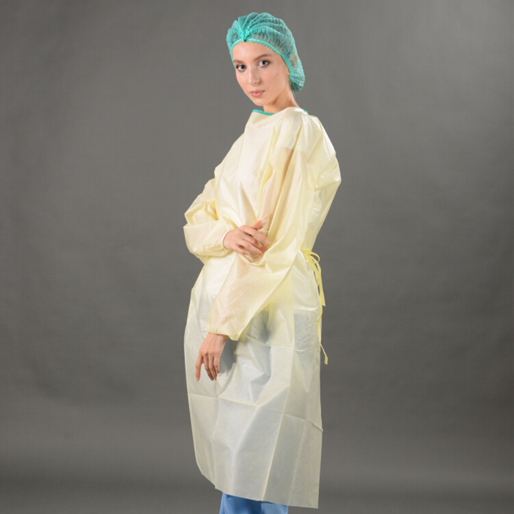 Medical Isolation Gown, PP Isolation Gown with Long Sleeves
