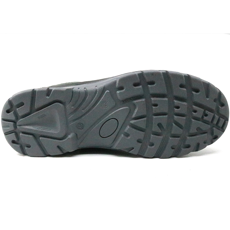 Slip resistant safety jogger rubber out sole steel toe safety shoes without lace