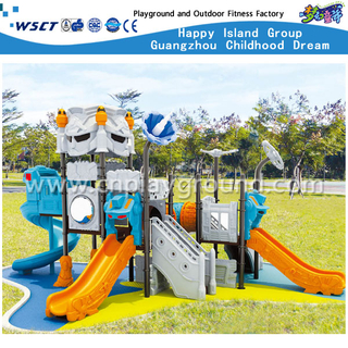 Cheap Multi-Slide Robot Galvanized Steel Playground for Children (HA-06701)