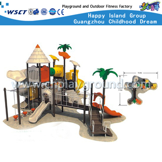 Outdoor Sevilla Galvanized Steel Playground Equipment with Multi-Function slide For Backyard
