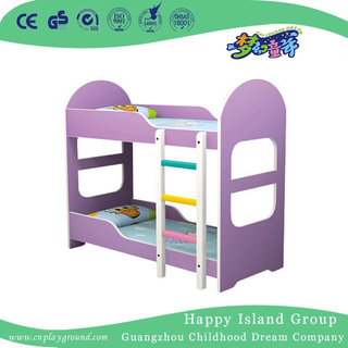 Cozy Lavender Toddler Two Storey Wooden School Bed with Stair (HG-6509)