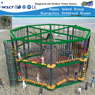 Outdoor Large Garden Adventure Playground Equipment with Climbing Set