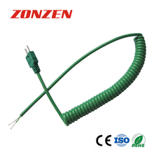 CCP-K Coiled Cords With Molded Mini Plug Thermocouple (IEC)