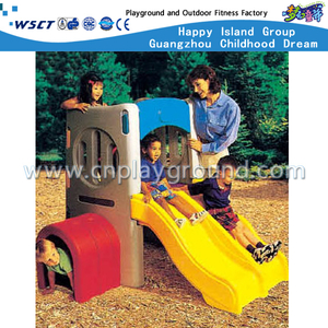 Outdoor Play Plastic Toys Toddler Double Slide Playground (M11-09305)