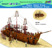 Large Family Wooden Pirate Ship Playground for Kids Play (HD-5401)