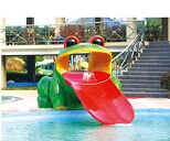 Small Aqua Game Water Frog Slide for Water Park Playground (HD-7001)