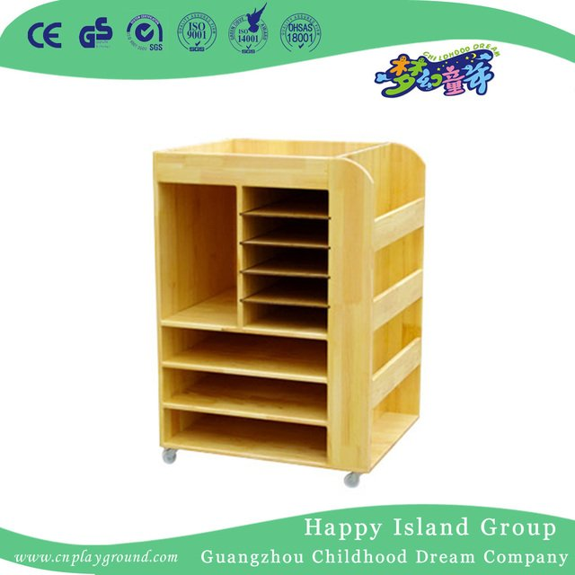 School Wood Mobile Art Supplies Storage Cabinet Hg 4507
