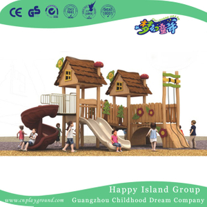 Outoor Commercial Children Play Wooden Playhouse Playground (1907001)