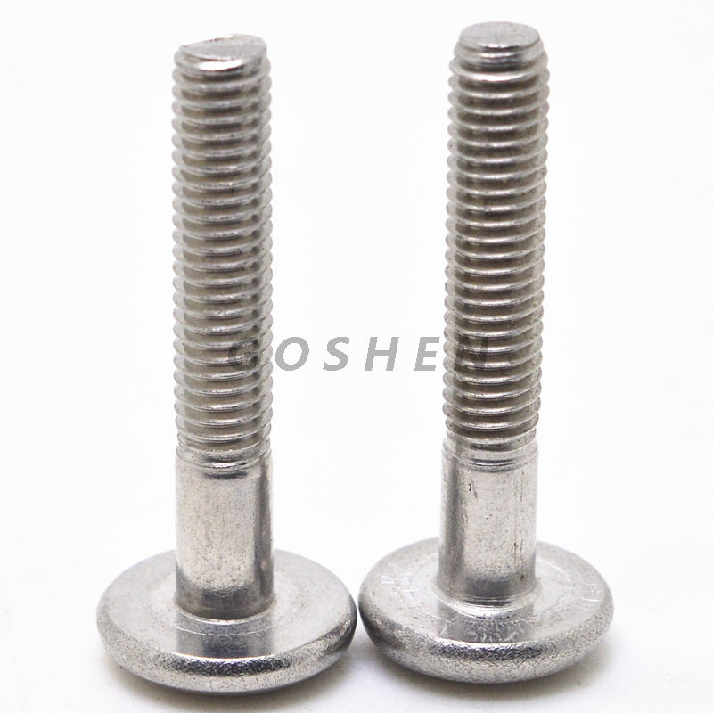 Stainless Steel Cross Recessed Pan Head Screws with Half Thread