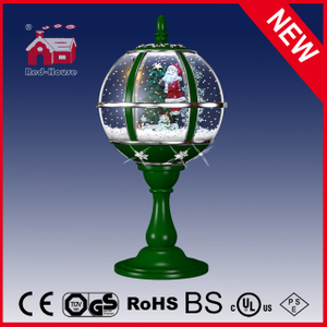 (LT30059B-GS11) Christmas Gifts Green LED Tabletop Lamp with Top Lace Decoration